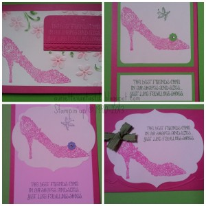 pink shoe collage